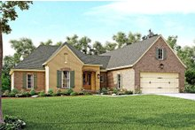Dream House Plan - European Exterior - Front Elevation Plan #430-121