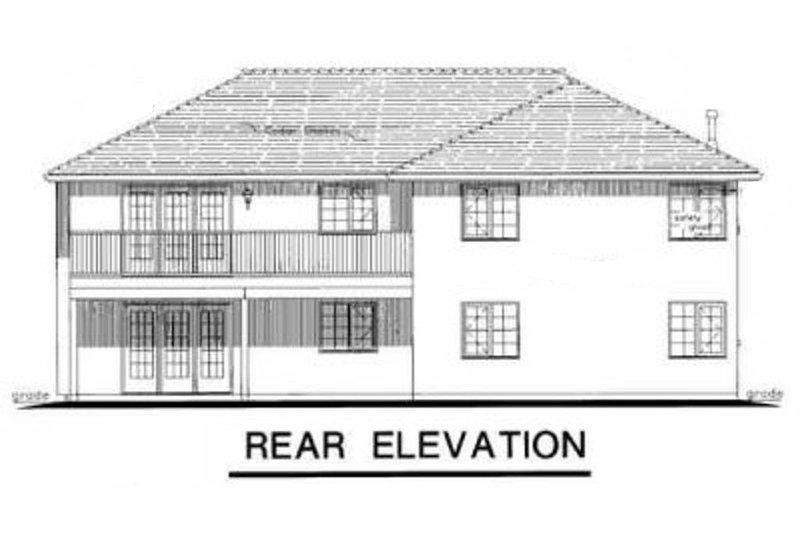 Mediterranean Exterior - Rear Elevation Plan #18-253 - Houseplans.com
