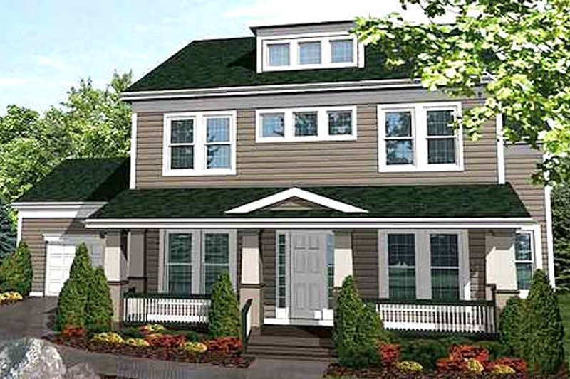 Bungalow Exterior - Front Elevation Plan #320-397