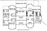 European Style House Plan - 6 Beds 6.5 Baths 3798 Sq/Ft Plan #117-537 Floor Plan - Main Floor Plan