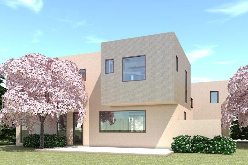 Modern Exterior - Rear Elevation Plan #64-236 - Houseplans.com