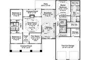 Craftsman Style House Plan - 3 Beds 2.5 Baths 2108 Sq/Ft Plan #21-275 Floor Plan - Main Floor Plan