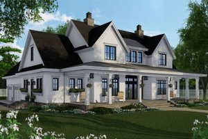 Dream House Plan - Farmhouse Exterior - Front Elevation Plan #51-1149