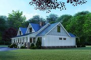 Craftsman Style House Plan - 4 Beds 3 Baths 1595 Sq/Ft Plan #923-123 Exterior - Other Elevation