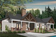Farmhouse Style House Plan - 4 Beds 2.5 Baths 3249 Sq/Ft Plan #23-2689 Exterior - Rear Elevation