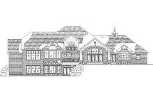House Plan Design - European Exterior - Rear Elevation Plan #5-216