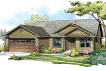 Craftsman style, Ranch design, elevation