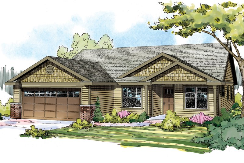 Home Plan - Craftsman style, Ranch design, elevation