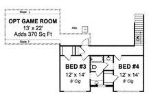 Farmhouse Floor Plan - Upper Floor Plan Plan #513-2050
