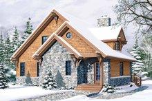 Cottage Exterior - Front Elevation Plan #23-2047