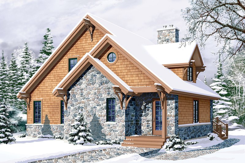 Cabin house country cottage house elevation