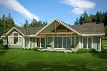 Craftsman Exterior - Rear Elevation Plan #124-1005