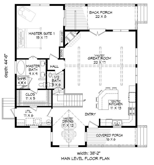 Country Floor Plan - Main Floor Plan Plan #932-262