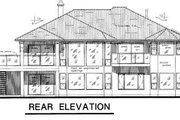 Mediterranean Style House Plan - 2 Beds 2.5 Baths 2056 Sq/Ft Plan #18-9133 Exterior - Rear Elevation