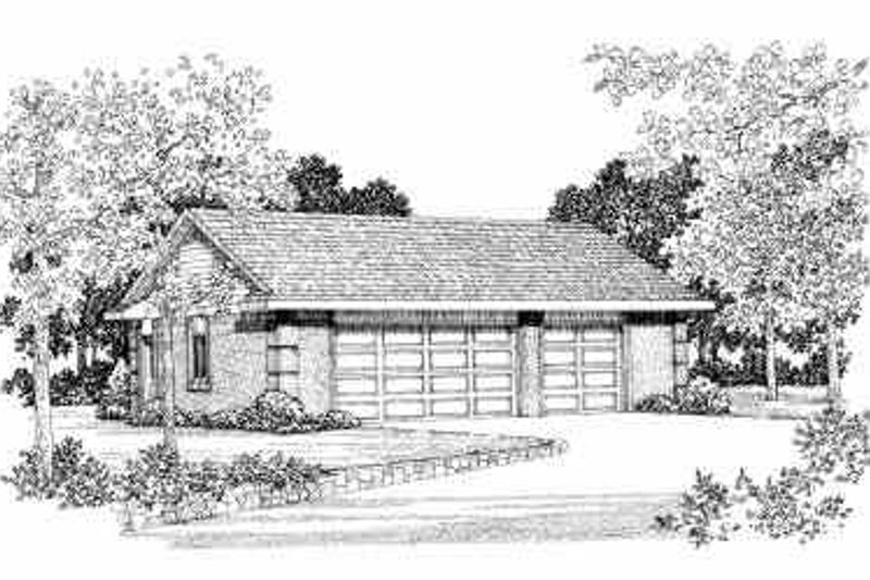 House Blueprint - Traditional Exterior - Front Elevation Plan #72-255