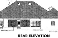 Southern Exterior - Rear Elevation Plan #44-128