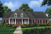 European Style House Plan - 4 Beds 3.5 Baths 2601 Sq/Ft Plan #21-186 Exterior - Front Elevation
