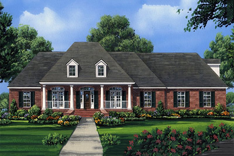 Architectural House Design - European Exterior - Front Elevation Plan #21-186
