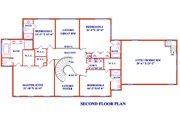 Colonial Style House Plan - 5 Beds 5 Baths 4430 Sq/Ft Plan #3-345 Floor Plan - Upper Floor