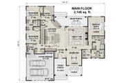 Farmhouse Style House Plan - 3 Beds 2.5 Baths 2148 Sq/Ft Plan #51-1142 Floor Plan - Main Floor Plan