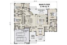 Farmhouse Floor Plan - Main Floor Plan Plan #51-1142