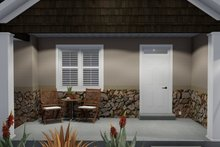 Architectural House Design - Ranch Exterior - Covered Porch Plan #1060-11
