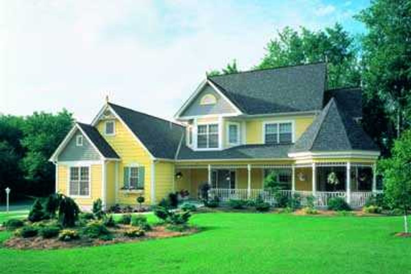 House Plan Design - Victorian Exterior - Front Elevation Plan #72-146