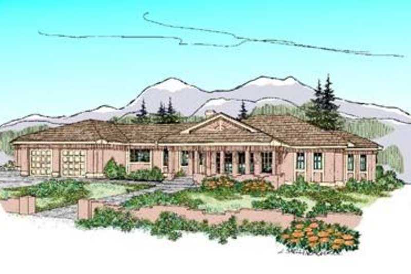 Traditional Exterior - Front Elevation Plan #60-235 - Houseplans.com