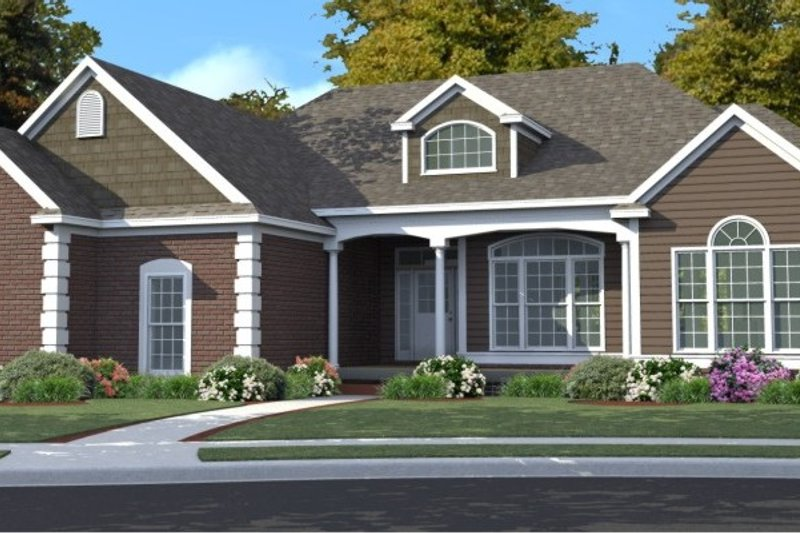 Traditional Style House Plan - 5 Beds 3 Baths 3827 Sq/Ft Plan #63-192 Exterior - Front Elevation
