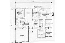 European Floor Plan - Main Floor Plan Plan #129-129