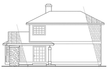 Country Exterior - Rear Elevation Plan #124-149