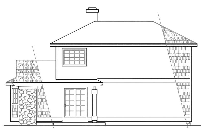 Country Exterior - Rear Elevation Plan #124-149 - Houseplans.com
