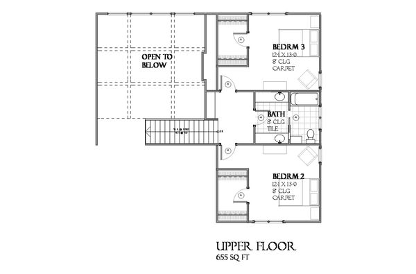 Country Floor Plan - Upper Floor Plan #901-112