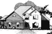 Traditional Style House Plan - 4 Beds 3.5 Baths 3600 Sq/Ft Plan #15-224 Exterior - Front Elevation