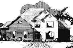 Traditional Exterior - Front Elevation Plan #15-224