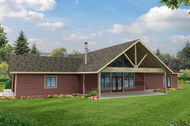 Dream House Plan - Ranch Exterior - Front Elevation Plan #124-955