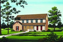 Home Plan - Traditional Exterior - Front Elevation Plan #45-298
