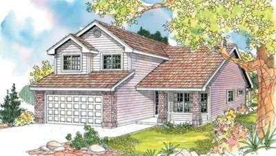 Exterior - Front Elevation Plan #124-595