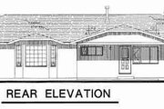 Traditional Style House Plan - 4 Beds 2.5 Baths 1871 Sq/Ft Plan #18-9073 Exterior - Rear Elevation