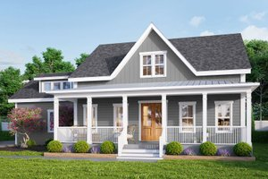 Dream House Plan - Farmhouse Exterior - Front Elevation Plan #461-72