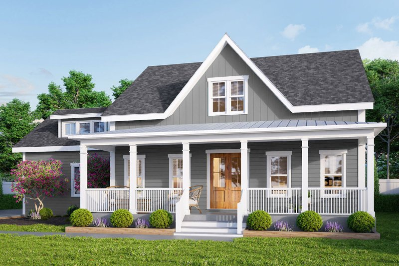 Architectural House Design - Farmhouse Exterior - Front Elevation Plan #461-72