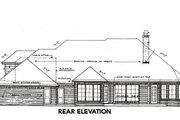 European Style House Plan - 3 Beds 2.5 Baths 2532 Sq/Ft Plan #310-648 Exterior - Rear Elevation