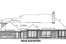 Dream House Plan - European Exterior - Rear Elevation Plan #310-648