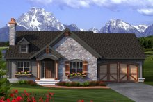 Ranch Exterior - Front Elevation Plan #70-1189