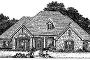 Colonial Style House Plan - 4 Beds 3.5 Baths 2690 Sq/Ft Plan #310-711 Exterior - Front Elevation