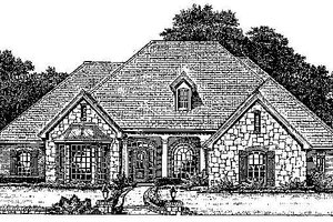 Colonial Exterior - Front Elevation Plan #310-711