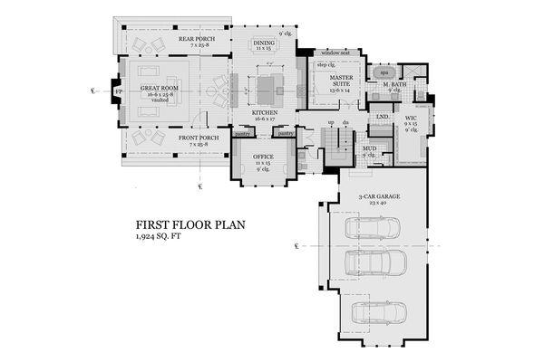 Farmhouse Floor Plan - Main Floor Plan #51-1145