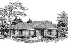 Dream House Plan - Traditional Exterior - Front Elevation Plan #70-215
