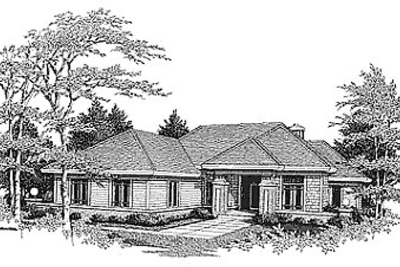 Traditional Exterior - Front Elevation Plan #70-215 - Houseplans.com