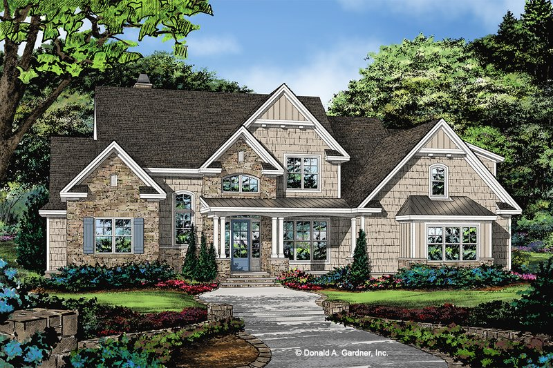 Traditional Exterior - Front Elevation Plan #929-1101